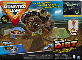 Monster Jam Soldier Fortune Monster Dirt Deluxe Set, Featuring 16 Ounces of Monster Dirt & Truck