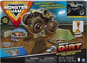 Monster Jam Soldier Fortune Monster Dirt Deluxe Set, Featuring 16 Ounces of Monster Dirt & Truck