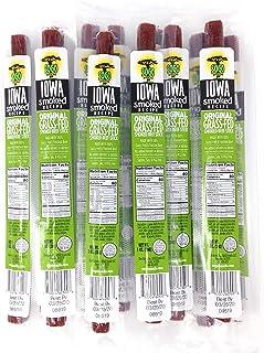 Original - Iowa Smoked Recipe, Sogo Snacks, Sugar Free Beef Jerky, Non-GMO Grass Fed Beef Sticks. No Nitrates, Gluten, Soy...
