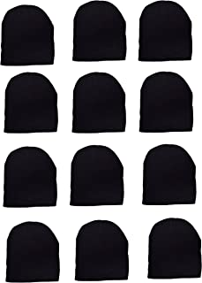 OPT Brand. Wholesale 12 PCS Unisex Knit Short Plain Ribbed Beanie Ski Cap Skull Hat Warm Solid Winter New Blank