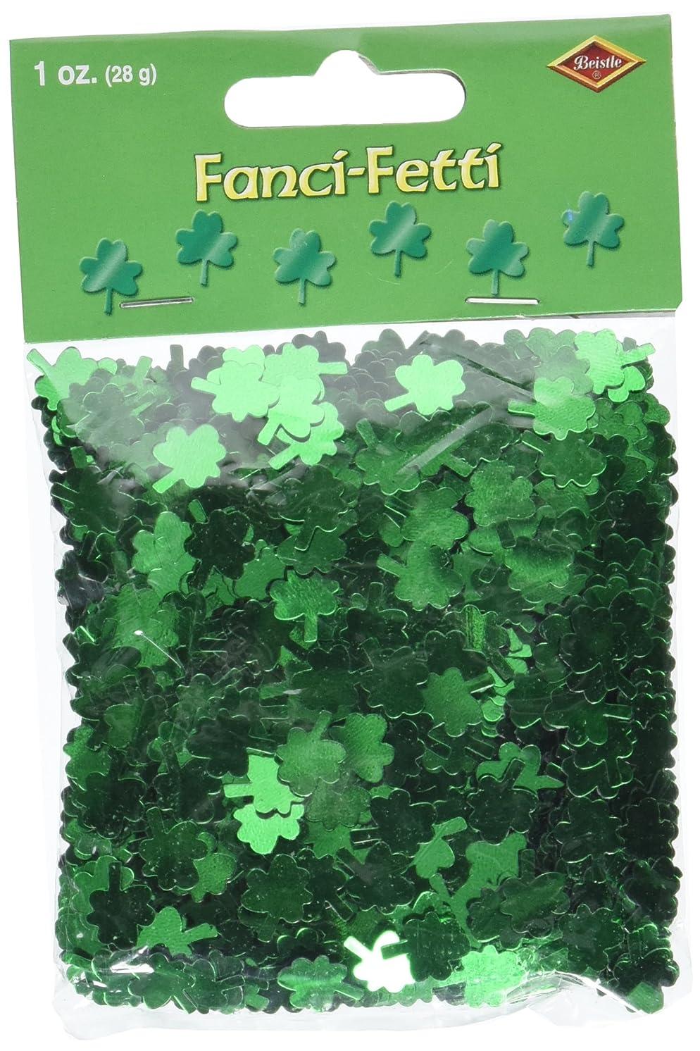 Fanci-Fetti Shamrocks (green) Party Accessory  (1 count) (1 Oz/Pkg)