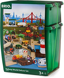 BRIO World 33766 Railway World Deluxe Set | Wooden Toy Train Set for Kids Age 3 and Up
