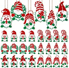 Christmas Wooden Gnome Ornaments Wood Gnome Hanging Decor Xmas Tree Gnome Ornaments Christmas Wooden Swedish Tomte Gnome S...