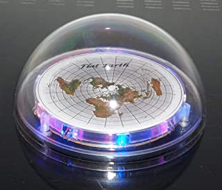Flat Earth Map LED Light Up Dome Display Model