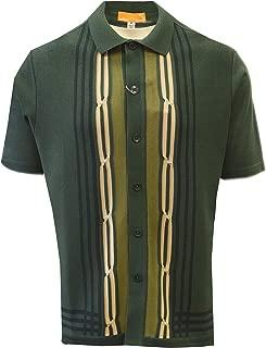Edition S Men's Short Sleeve Knit Shirt - California Rockabilly Style: Multi Stripes