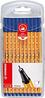 STABILO Point 88 Fineliner - Blue (Wallet of 10)
