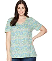 Plus Size Mosaic Shells Luna Top
