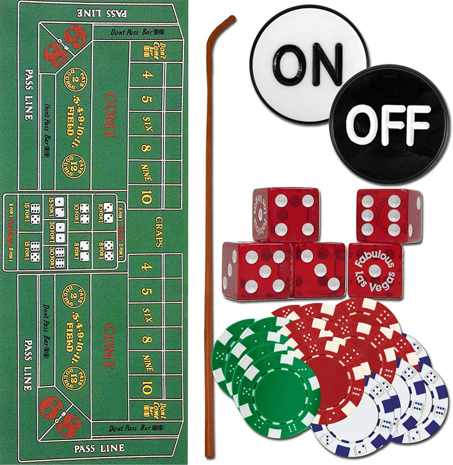 Trademark 10-3020-set Craps Max 42% OFF Set - All Max 69% OFF to Cra Play The Pieces Now