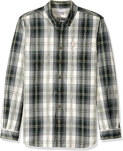voiturehartt Hommes's Big & Tall M Essential Plaid Button Down manche longue Shirt, elm, 4X-grand