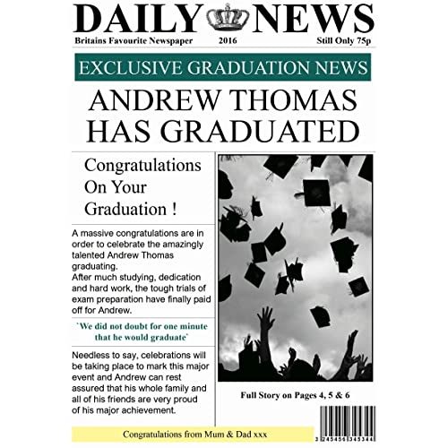 BLACK AND WHITE 3 DESIGNS AVAILABLE PERSONALISED UNIVERSITY GRADUATION CARD