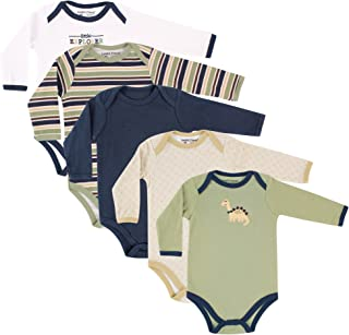 Luvable Friends Unisex Baby Long-Sleeve Bodysuits