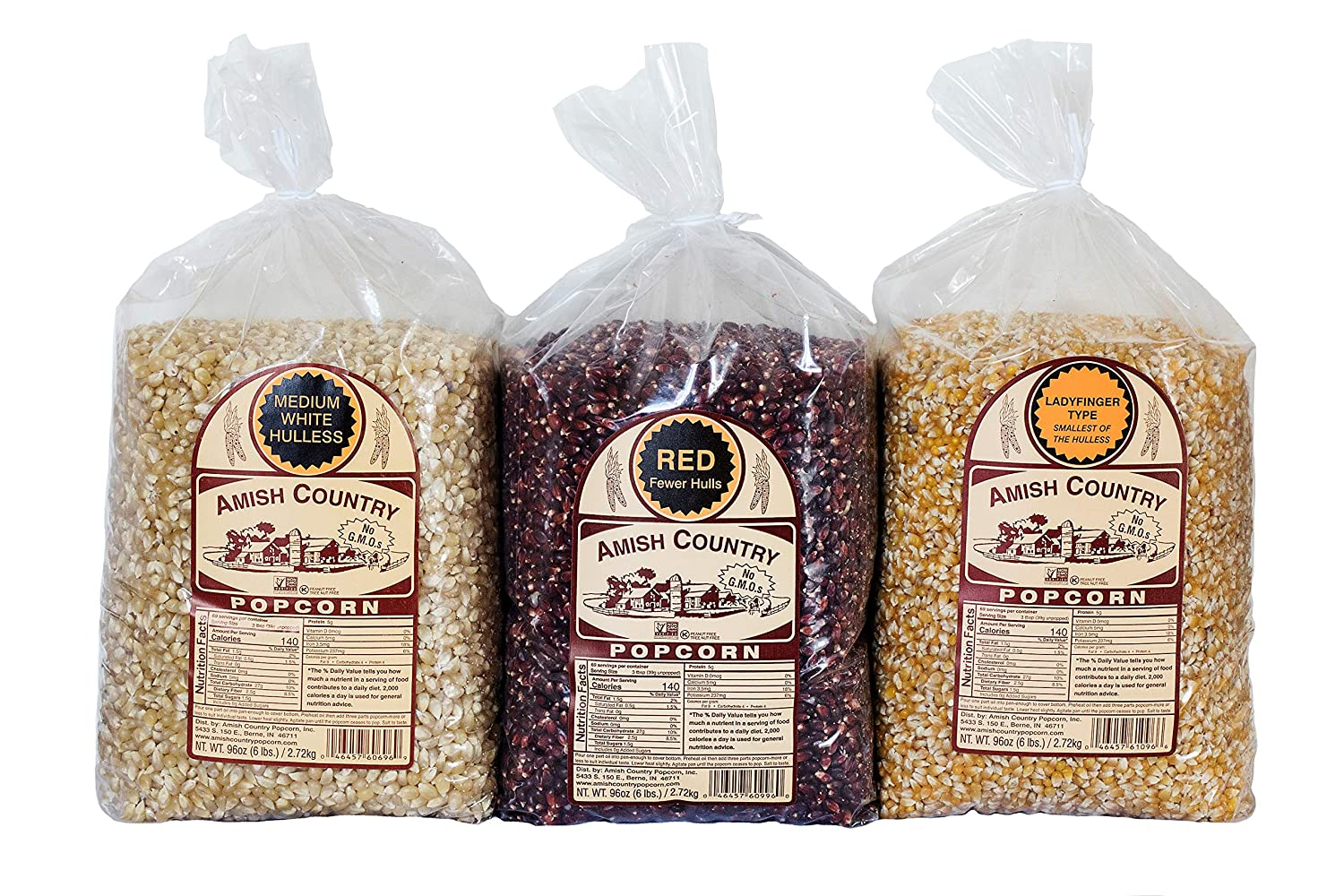 Amish Country Popcorn 3 online shopping 6 Ladyfing Pound Variety Bundle Red New color