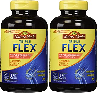 Nature Made TripleFlex - Glucosamine Chondroitin and MSM - 2 Bottles, 170 Caplets Each