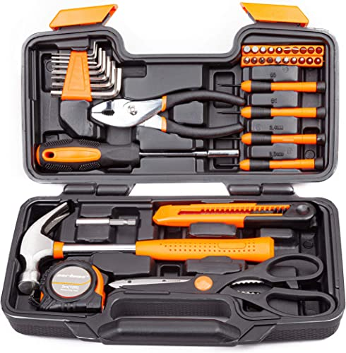 high quality CARTMAN Orange 39-Piece new arrival Tool Set - General Household Hand Tool new arrival Kit with Plastic Toolbox Storage Case online sale