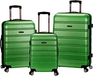 Rockland Melbourne 3 Pc Abs Luggage Set, Green