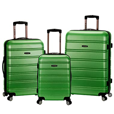 Rockland Melbourne Hardside Expandable Spinner Wheel Luggage, Green, 3-Piece Set (20/24/28)