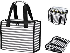 Bayso Insulated Lunch Bag for Women/Men/Kids Cooler Tote for Picnic/Boating/Office/School/Beach Leakproof Big Volume Wide ...