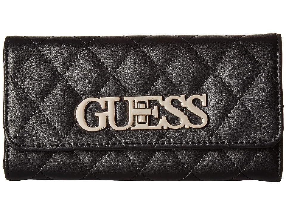 GUESS Sweet Candy SLG Multi Clutch (Black 1) Wallet Handbags