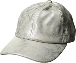 Steve Madden - Metallic Faux Leather Baseball Cap
