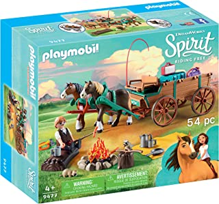 PLAYMOBIL Spirit Riding Free Lucky's Dad with Covered Wagon Toy