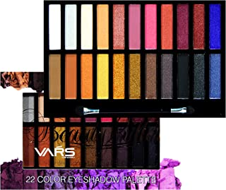 VARS LONDON 22 Color matte and shimmer combo eyeshadow palette 39.2 g