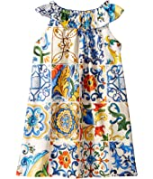 Dolce & Gabbana Kids - Poplin Maioliche Dress (Big Kids)