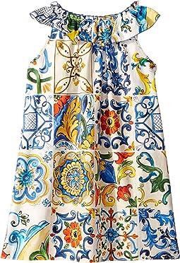 Poplin Maioliche Dress (Big Kids)