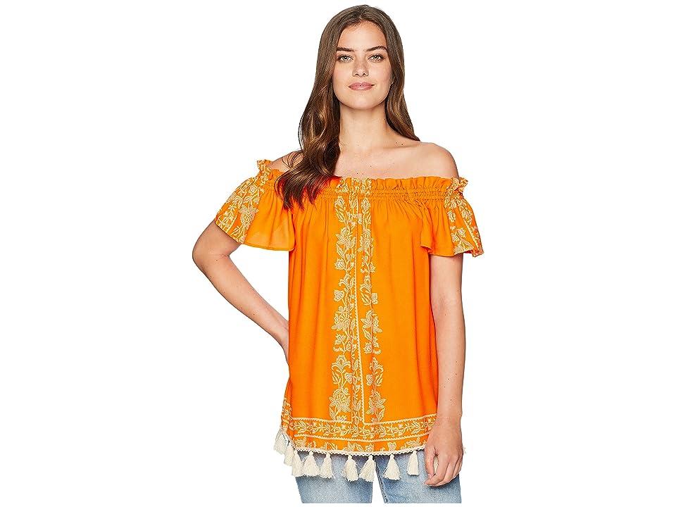 Show Me Your Mumu Woodstock Tassel Tunic (Nomad Blintz Clementine) Women