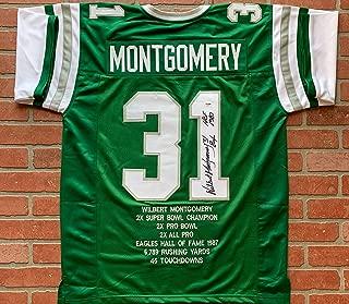 Wilbert Montgomery autographed signed inscribed jersey Philadelphia Eagles PSA