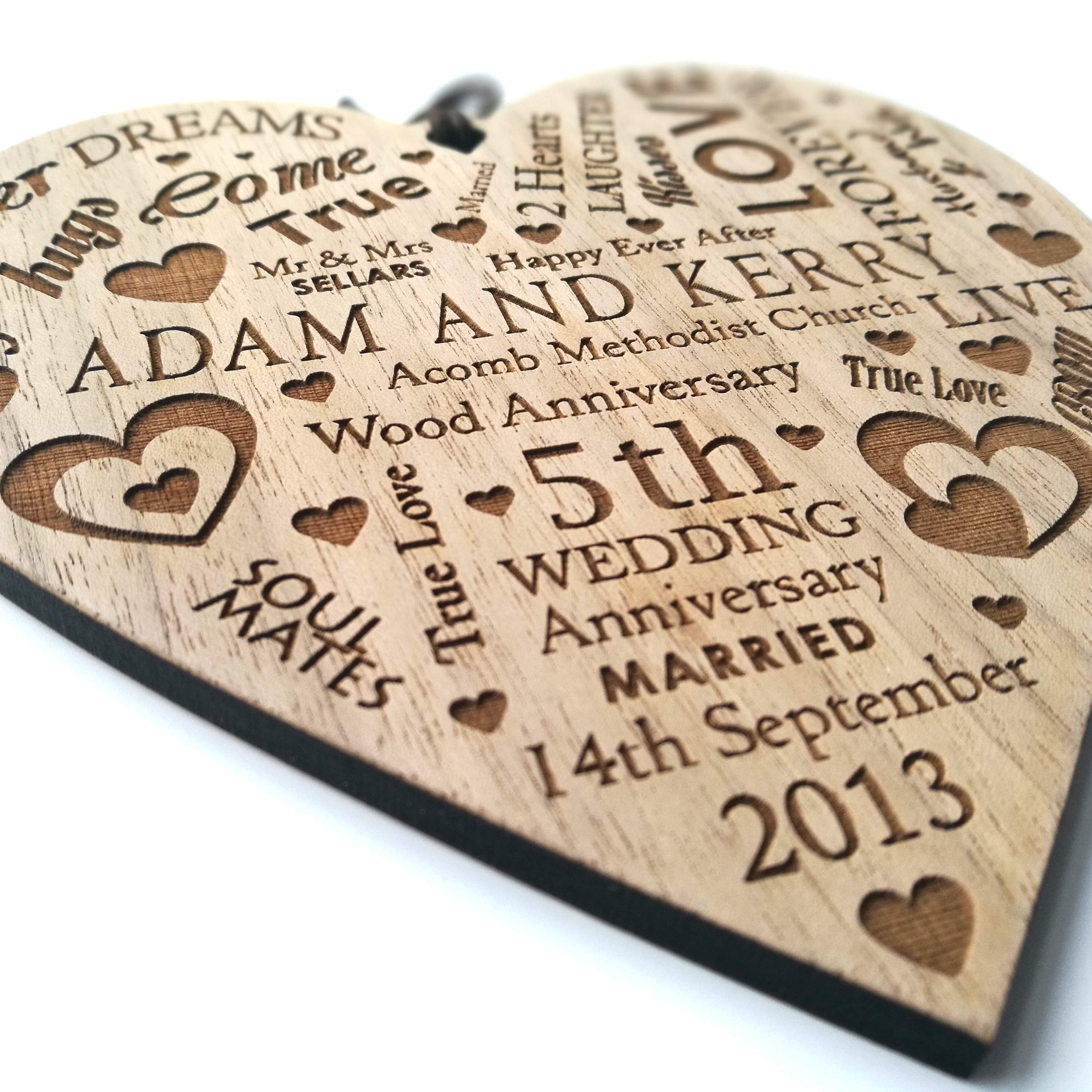 LoveThis** Wedding Anniversary Plaque Personalised Gift Marriage Anniversary Heart Present ~ Wooden Plaque  sc 1 st  Amazon UK & 15th Wedding Anniversary Gifts: Amazon.co.uk