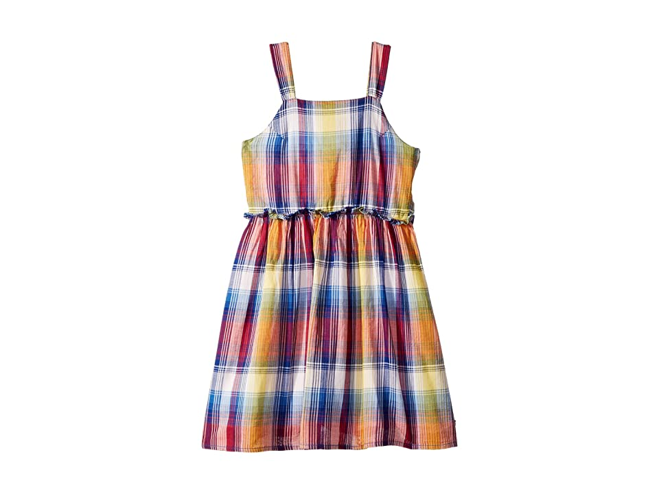 Tommy Hilfiger Kids Plaid Cut Out Dress (Big Kids) (TH Mazarine Blue) Girl