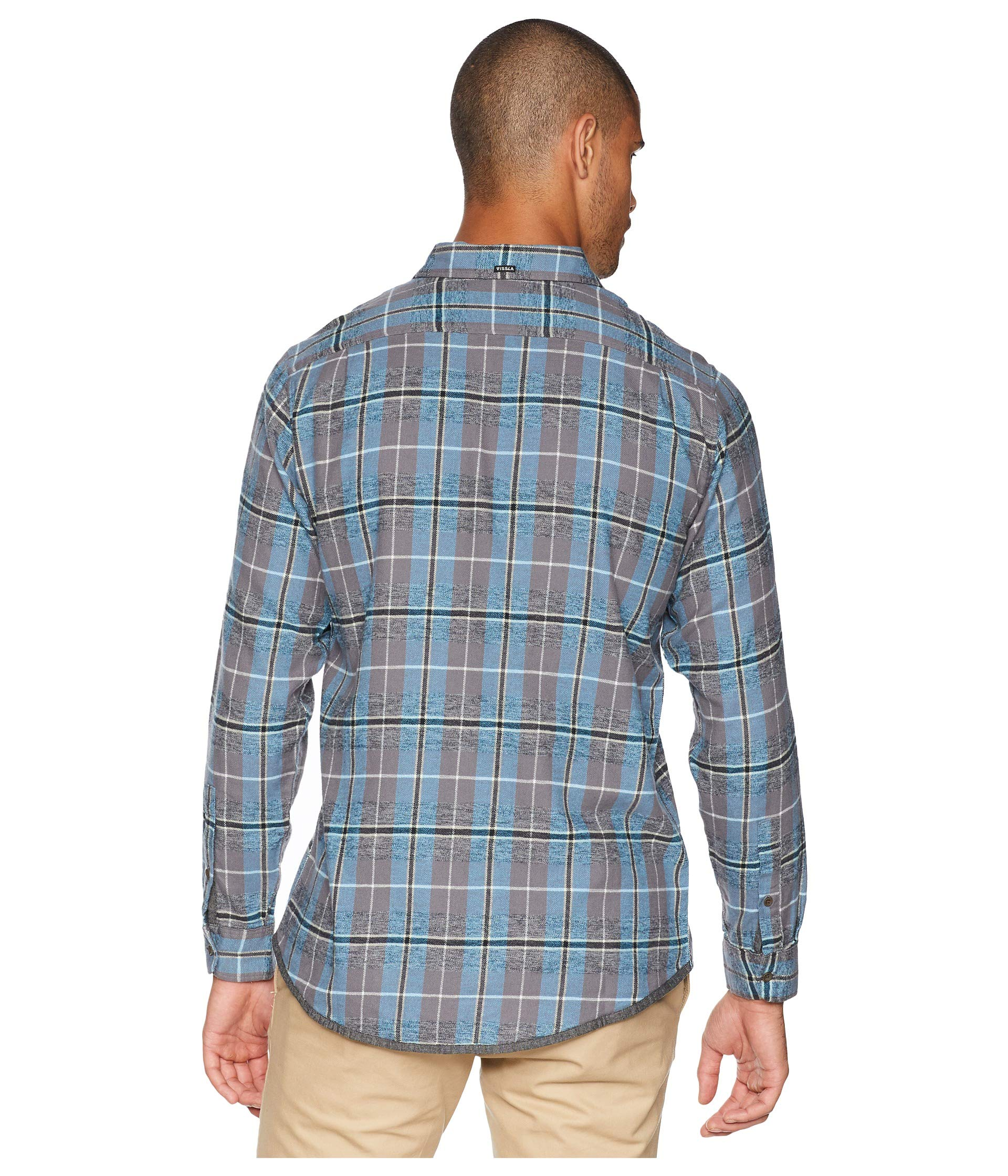 Gunmetal Vissla Long Sleeve Flannel Central Coast zqzx0Rwa1