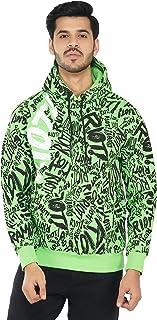 Urban Age Clothing Co.Men's Cotton Blend Heavyweight Fleece AOP RIOT Sweatshirt Hoodie for Winter Temperature 0 Degree to ...