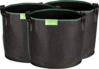 GardenMate 3-Pack 5 gallons Soft-Sided Plant pots – Grow Bags with Soft Felt-Like Texture That Promote air Root Pruning