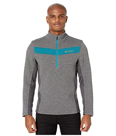 Spyder Encore 1/2 Zip Fleece Jacket (Ebony) Men