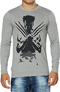 Alan Jones Printed Full Sleeves Cotton T-shirt