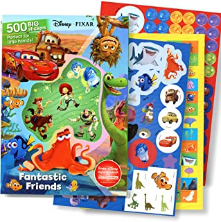 Disney Pixar Sticker Activity Book with 500 Stickers - Toy Story, Lightening McQueen, Dinosaurs, Nemo, Dory, and More!
