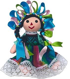 Alkimia Inc Mexican Handmade Traditional Rag Doll - 7 inches - Green