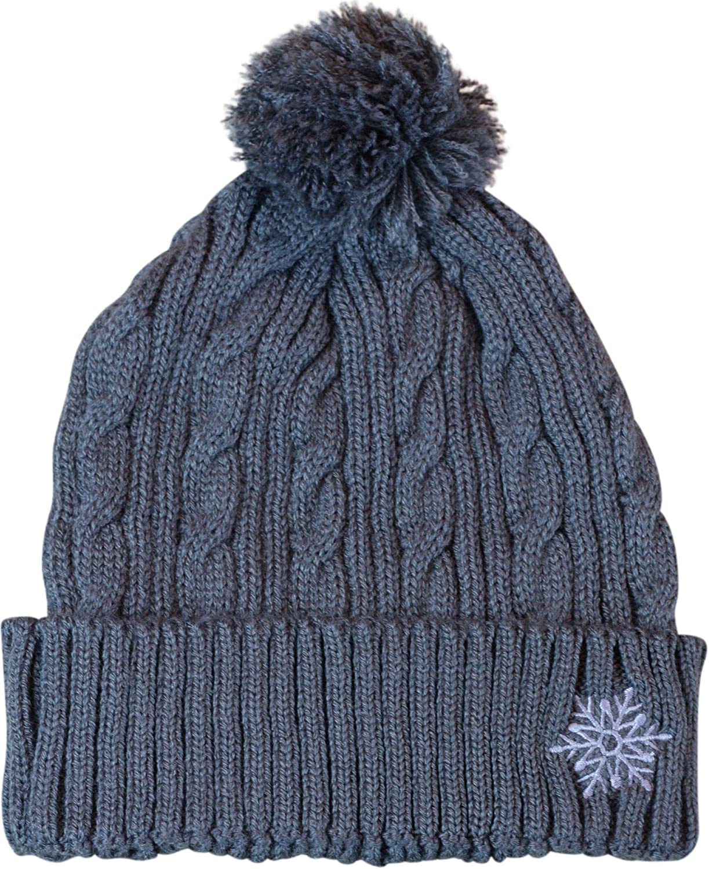 Lindo Knit Beanie With Pom Pom  Snowflake