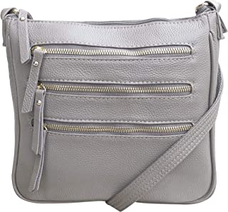 Leather Locking Concealment Crossbody Purse - CCW Concealed Carry Gun Bag