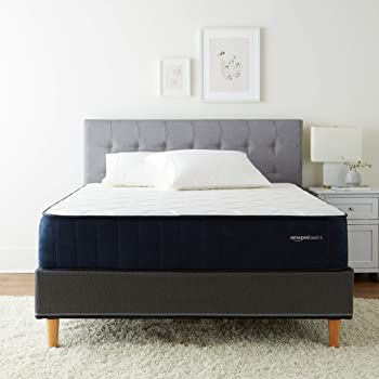AmazonBasics Signature Hybrid Mattress - Cushion Firm Feel - Gel Infused Memory Foam for Deeper Support - Cool to Touch top Fabric - CertiPUR-US Certified - 12-inch, Queen