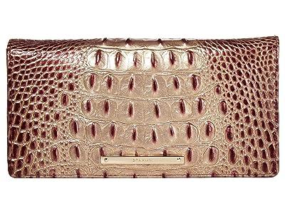 Brahmin Ombre Melbourne AnnMarie Bifold Wallets (Port) Wristlet Handbags