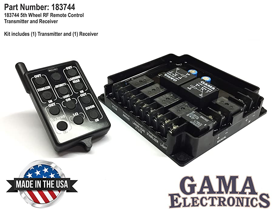 GAMA Electronics 5th Wheel RF Remote Control Transmitter and Receiver