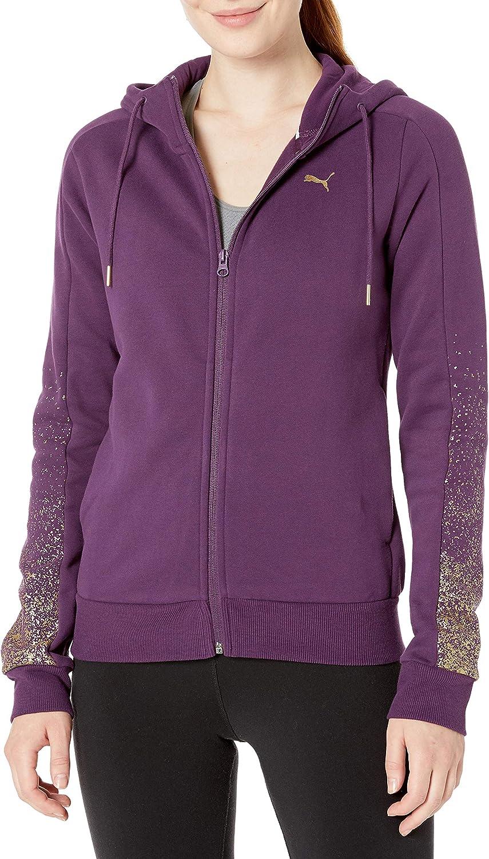 PUMA Women's Holiday Pack Full Zip Fleece Hoodie, Plum Purple, S