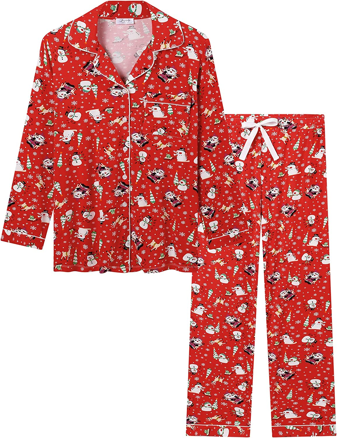 Joyaria Womens Soft Bamboo Pajama Sets Long Clearance SALE! Limited time! Purchase Button Sleeve Down P