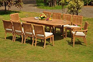Grade-A Teak Wood Dining Set 10 Seater 11 Pc: 94