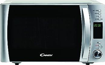 Candy CMXG22DS Microondas con Grill y Cook In App, 40 programas automáticos, plato giratorio 24.5 cm, 800 / 1000 W, 22 L, silver