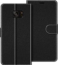 COODIO Funda Samsung Galaxy S7 Edge con Tapa, Funda Movil Samsung S7 Edge, Funda Libro Galaxy S7 Edge Carcasa Magnético Funda para Samsung Galaxy S7 Edge, Negro
