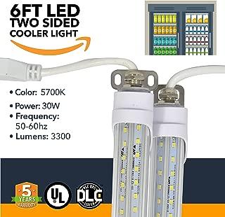 6FT LED Refrigeration Cooler Lights - LED Powered Double-Sided Walk-in Cooler Lights - (UL + DLC) - (25 Pack)