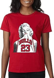 193 - Women's T-Shirt Marilyn Monroe Bulls 23 Jordan Jersey